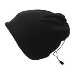 24 Units of Unisex Polar Fleece Multi Function Warmer With Adjustable String - Winter Beanie Hats