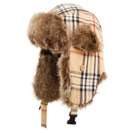 24 Units of Plaid Trooper Hat - Fashion Winter Hats