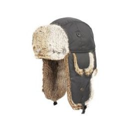 4 Units of Super Soft Genuine Rabbit Fur Bumber Trapper Winter Hats Gray - Fashion Winter Hats