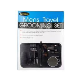 9 Units of Men's Travel Grooming Set - Personal Care Items