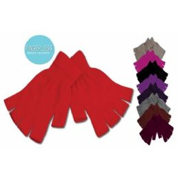 96 Units of FINGER-LESS STRETCH MAGIC GLOVE ASSORTED COLOR - Knitted Stretch Gloves