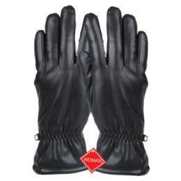 12 Units of LADIES FAUX LEATHER GLOVE - Leather Gloves