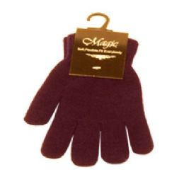 96 Units of MAGIC STRETCH GLOVE ASSORTED COLOR - Knitted Stretch Gloves