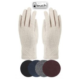 24 Units of LADIES WOOL TOUCH SCREEN GLOVE - Conductive Texting Gloves