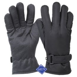 12 Units of Men's Waterproof Glove W/thermal Fleece Lining - Fleece Gloves