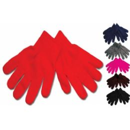 96 Units of KIDS MAGIC GLOVE ASSORTED COLOR - Kids Winter Gloves