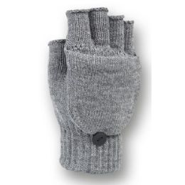 48 Units of FINGERLESS KNIT GLOVE WITH FLIP - Knitted Stretch Gloves