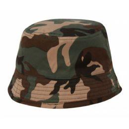 24 Units of Kids Army Bucket Hat - Kids Baseball Caps