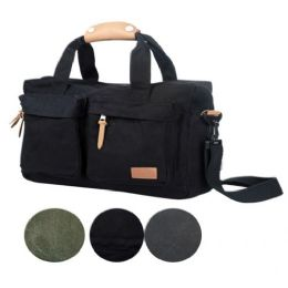 4 Units of CANVAS COMPUTER BAG IN BLACK - Computer Accessories