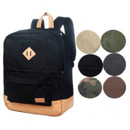4 Units of CANVAS BACKPACK IN BLACK - Backpacks