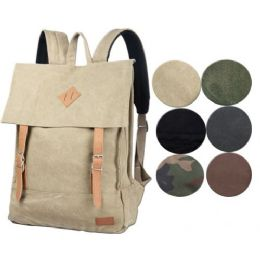 4 Units of Canvas Backpack Camo Color - Backpacks