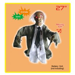 "4 Units of 27""half body stand ghost 4's w/moving arm and sound - Halloween & Thanksgiving"