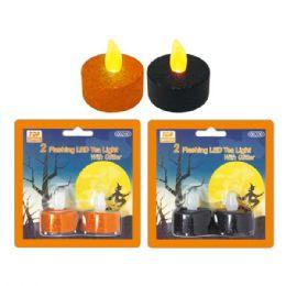 96 Units of 2 pack LED tea light - Halloween & Thanksgiving