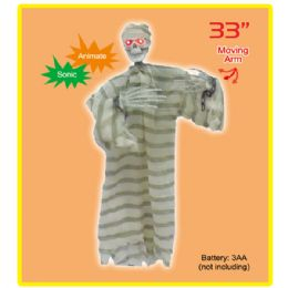 "4 Units of 33""hanging prisoner 6's w/sonic,light up,moving arm - Halloween & Thanksgiving"