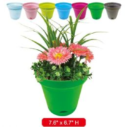 96 Units of Gardening Planter Assorted Colors - Garden Planters and Pots