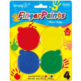 48 Units of 4 Count Fingerpaiant - Paint, Brushes & Finger Paint