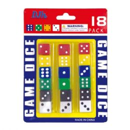 96 Units of 24 Piece Game Dice - Playing Cards, Dice & Poker