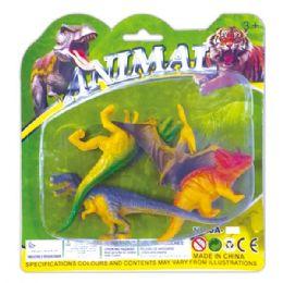 96 Units of Four Piece Dinosaur Set - Animals & Reptiles