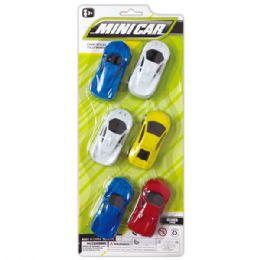 96 Units of Six Piece Car Set - Cars, Planes, Trains & Bikes