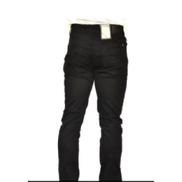 12 Units of Chino Stretch 100% Viscose Brushed Fabric Black Only - Mens Pants