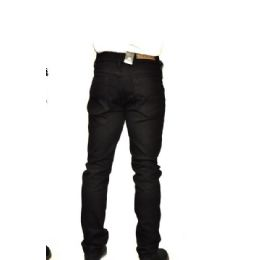 12 Units of CHINO STRETCH VISCOSE FABRIC 100% COTTON BLACK ONLY - Mens Pants