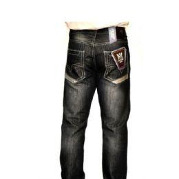 12 Units of Mercelized Straight Leg Denim 100% Cotton Black Only - Mens Jeans