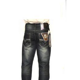 12 Units of Mercelized Straight Leg Denim 100% Cotton Dark Blue Only - Mens Jeans