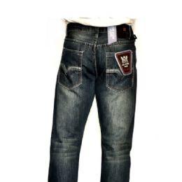 12 Units of Mercelized Straight Leg Denim 100% Cotton Blue Only - Mens Jeans