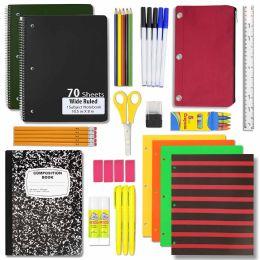 12 Units of 24 PIECE SCHOOL SUPPLY KIT - School Supply Kits
