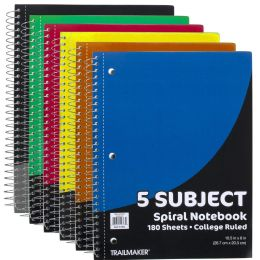 24 Units of Wire Notebook - 5 Subject Notebook - Notebooks