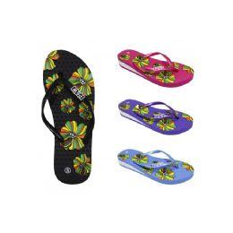 48 Units of Women's Fashion Floral Flip Flop - Women's Flip Flops
