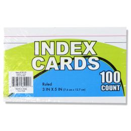 72 Units of 100 Pack Of Index Cards - Labels ,Cards and Index Cards