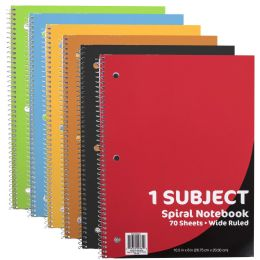 48 Units of Wire Notebook - 70 Pages - Wide Ruled - Notebooks