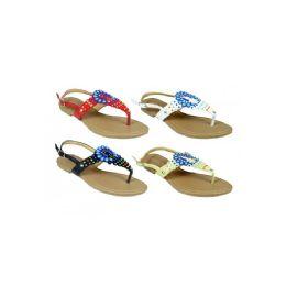 48 Units of Women's Floral Sandal