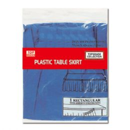 72 Units of Table Skirt Dark Blue - Party Paper Goods
