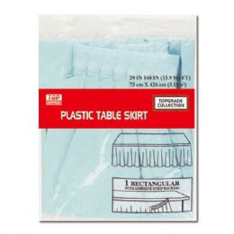 72 Units of Table Skirt Baby Blue - Party Paper Goods