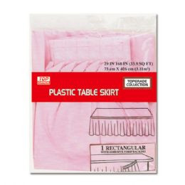 72 Units of Table Skirt Pastel Pink - Party Paper Goods