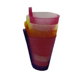 96 Units of 4 Piece Juice Cup - Plastic Drinkware