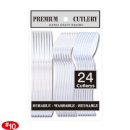 96 Units of Twenty Four Count Premium Clear Cutlery - Disposable Cutlery