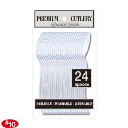 96 Units of Twenty Four Count Premium Clear Spoon - Disposable Cutlery