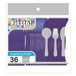 96 Units of Thirty Six Count Cutlery Dark Blue - Disposable Cutlery