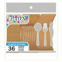 96 Units of Thirty Six Count Cutlery Gold - Disposable Cutlery