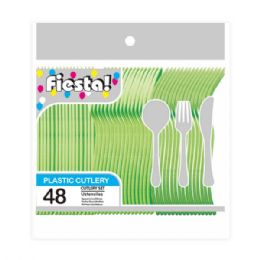 96 Units of Forty Eight Count Cutlery Lime - Disposable Cutlery
