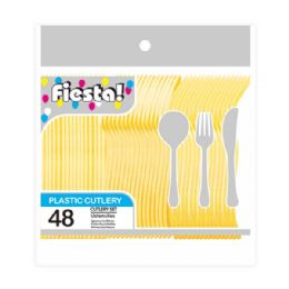 96 Units of Forty Eight Count Cutlery Yellow - Disposable Cutlery
