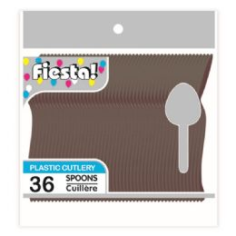 96 Units of Thirty Six Count Spoon Black - Disposable Cutlery