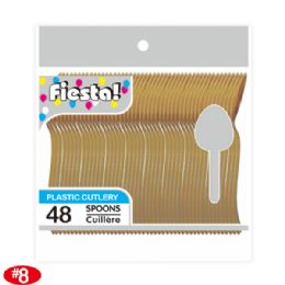 96 Units of Forty Eight Count Spoon Gold - Disposable Cutlery
