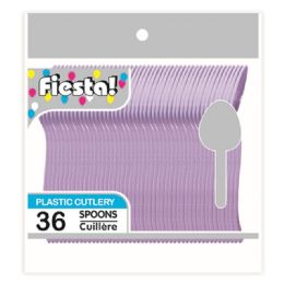 96 Units of Thirty Six Count Spoon Purple - Disposable Cutlery