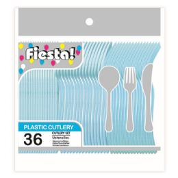 96 Units of Thirty Six Count Cutlery Patel Blue - Disposable Cutlery
