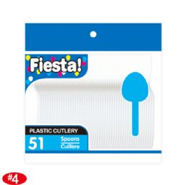 96 Units of 51count white soup spoon - Disposable Cutlery