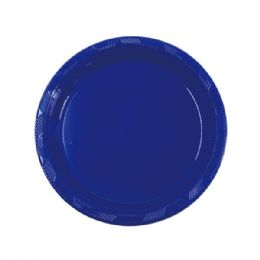 """72 Units of 7""""/15 count plate Dark blue - Party Paper Goods"""